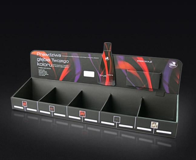 Ekspozytor, display naladowy do saszetek z toperem, kaszerowany.