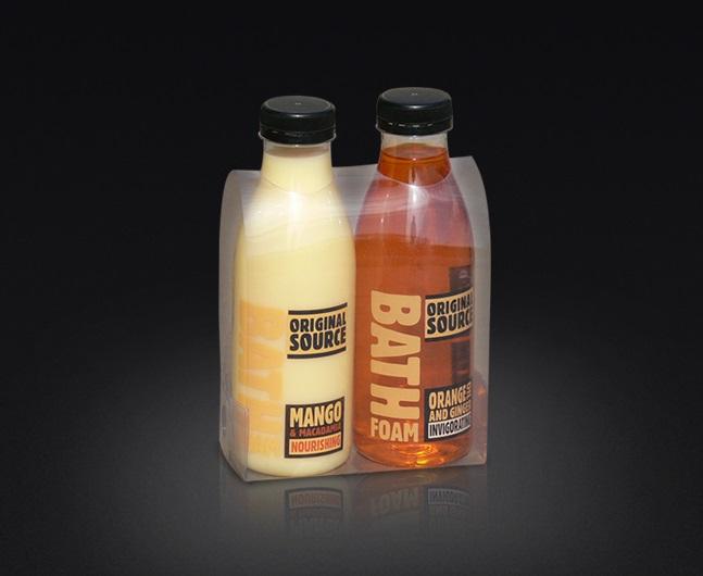 Opakowanie ekonomiczne, owijka z foli PET, dwie butelki 500ml.