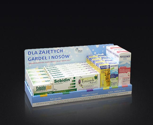 Komplet opakowań farmaceutycznych, różne rozmiary.