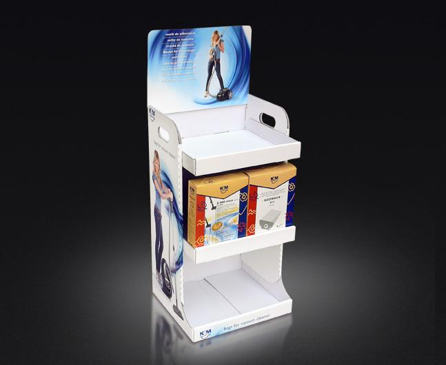 Mini display naladowy z toperem, łatwy samodzielny montaż, możliwy transport produktów na displayu.